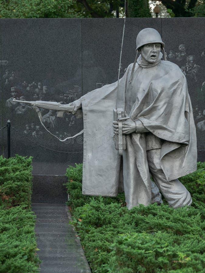 Μνημείο παλαιμάχων Πολέμων της Κορέας, Washington DC, ΗΠΑ στοκ εικόνα με δικαίωμα ελεύθερης χρήσης