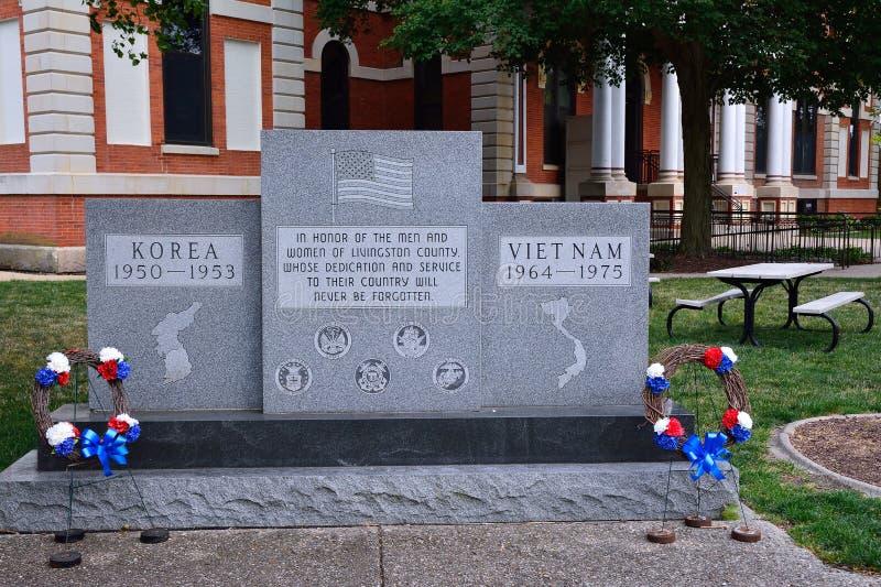 Μνημείο προς τιμή εκείνους που πέθαναν στην Κορέα και το Βιετνάμ στοκ φωτογραφίες