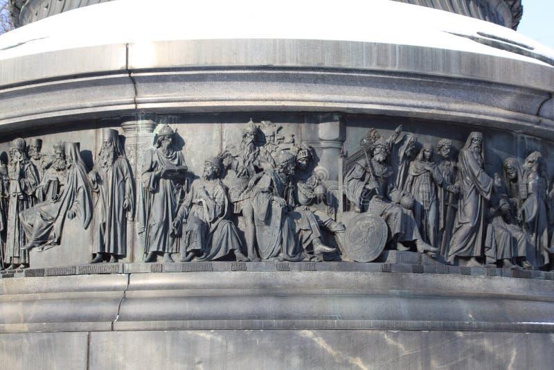 μνημείο Ρωσία χιλιετίας τ&eps στοκ εικόνα με δικαίωμα ελεύθερης χρήσης