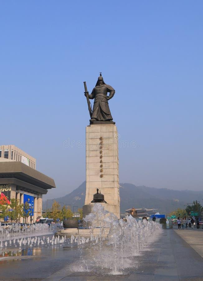 Μνημείο Σεούλ Νότια Κορέα αντικνημίων Yi SU ναυάρχων στοκ εικόνες