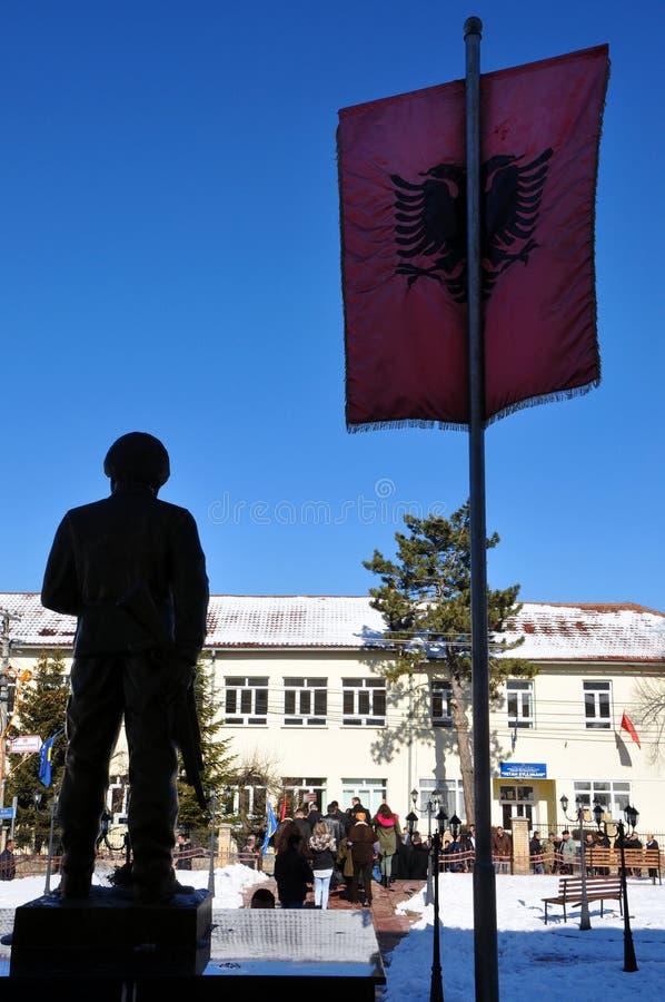 Μνημείο σε Adem Jashari σε Dragash, Κόσοβο στοκ φωτογραφία με δικαίωμα ελεύθερης χρήσης
