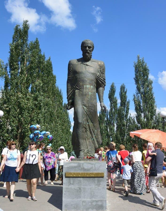 Μνημείο σε Dostoevsky στο Ομσκ στοκ εικόνα