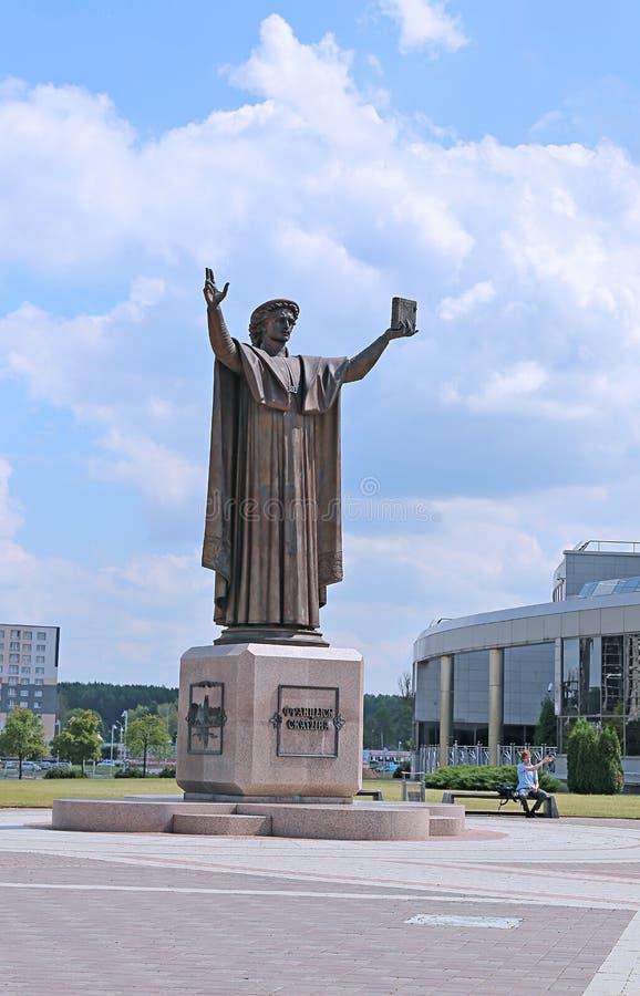 Μνημείο σε Francisk Skarina στο Μινσκ στοκ φωτογραφία