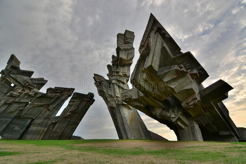 Μνημείο στα θύματα του ναζισμού Ένατο οχυρό kaunas Λιθουανία στοκ εικόνα με δικαίωμα ελεύθερης χρήσης
