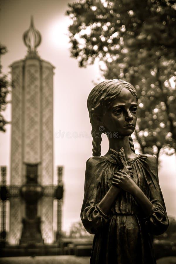 Μνημείο στα θύματα Holodomor σε Kyiv στοκ εικόνες