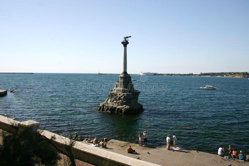 Μνημείο στα πλημμυρισμένα σκάφη στοκ εικόνες