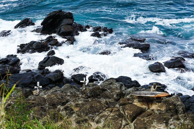 Μνημείο στα surfers που πέθαναν στοκ φωτογραφίες