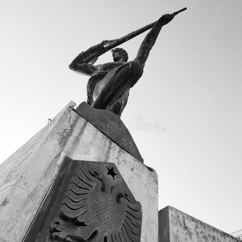 Μνημείο στην αντίσταση στην ιταλική εισβολή στοκ εικόνες