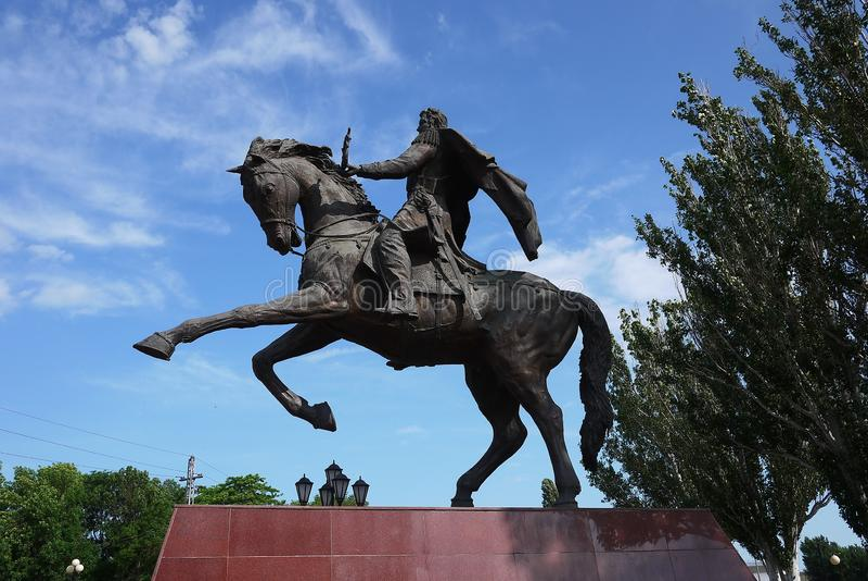 Μνημείο στον αναβάτη στην πλάτη αλόγου στοκ εικόνες με δικαίωμα ελεύθερης χρήσης
