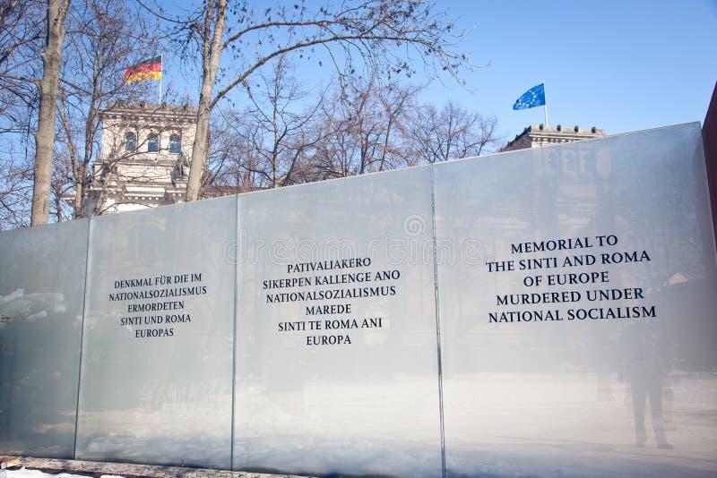Μνημείο στους ανθρώπους Sinti και της Ρώμης στο Βερολίνο στοκ φωτογραφία με δικαίωμα ελεύθερης χρήσης