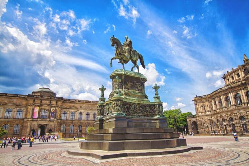 Μνημείο στο βασιλιά Johann στη Δρέσδη στοκ εικόνα με δικαίωμα ελεύθερης χρήσης