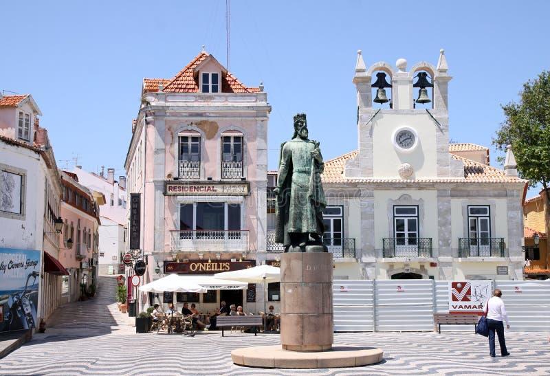 Μνημείο στο βασιλιά Pedro στο Κασκάις στοκ εικόνα