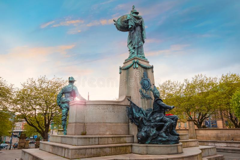 Μνημείο στο Λίβερπουλ Reigiment του βασιλιά στο Λίβερπουλ, UK στοκ εικόνες με δικαίωμα ελεύθερης χρήσης