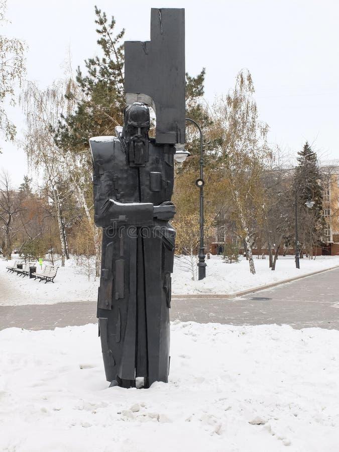 Μνημείο στο συγγραφέα Fyodor Dostoevsky σπουδαίου Ρώσου στοκ εικόνες