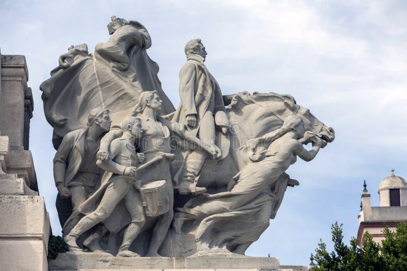 Μνημείο στο σύνταγμα 1812, διακοσμητική λεπτομέρεια στοκ εικόνες