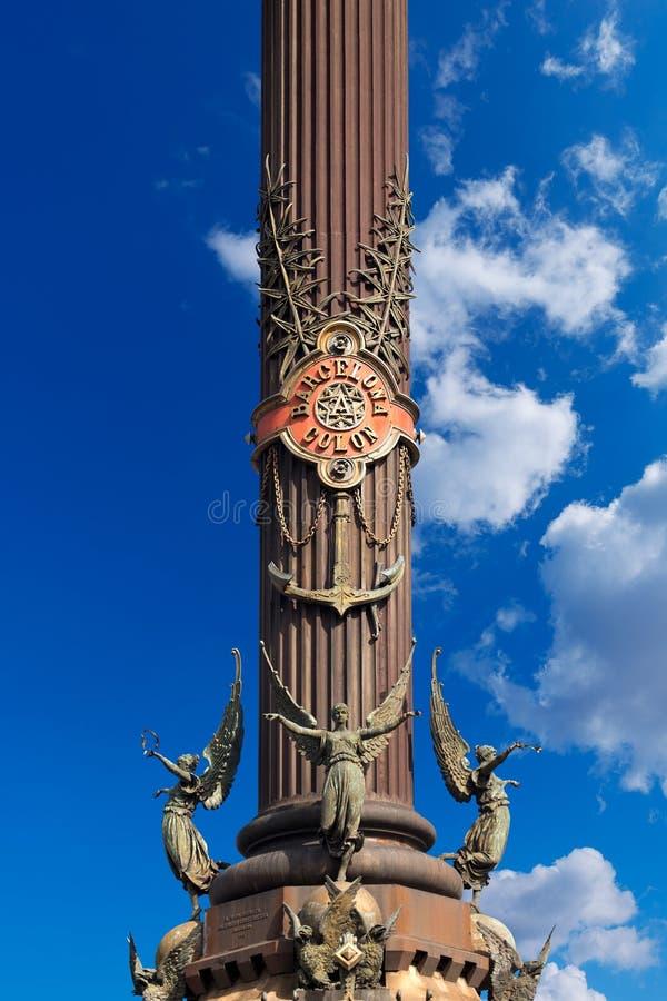 Μνημείο στο Christopher Columbus - τη Βαρκελώνη στοκ εικόνα με δικαίωμα ελεύθερης χρήσης