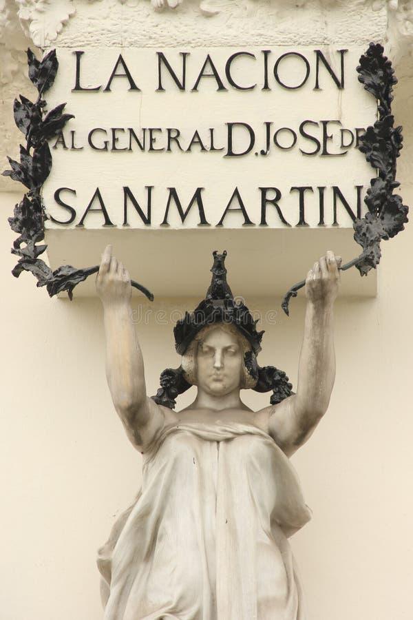 Μνημείο στο Jose de SAN Martin στοκ εικόνες