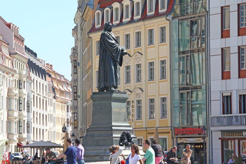 Μνημείο στο Martin Luther στη Δρέσδη στοκ φωτογραφία με δικαίωμα ελεύθερης χρήσης