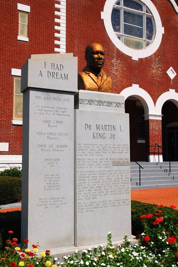 Μνημείο στο Martin Luther King, Slema Αλαμπάμα στοκ εικόνα με δικαίωμα ελεύθερης χρήσης