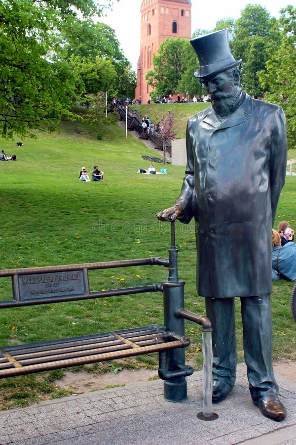Μνημείο στο William Heerlein Lindley στη Βαρσοβία, Πολωνία στοκ εικόνα
