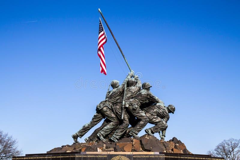 Μνημείο Στρατεύματος Πεζοναυτών στην Ουάσιγκτον, συνεχές ρεύμα στοκ εικόνες