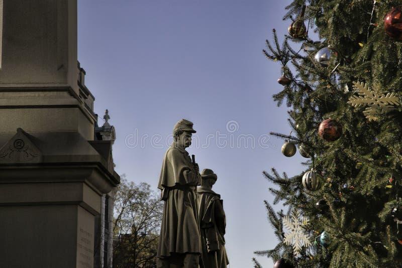 Μνημείο στρατιωτών και ναυτικών στην πλατεία Penn στο Λάνκαστερ, Πενσυλβανία στοκ εικόνες