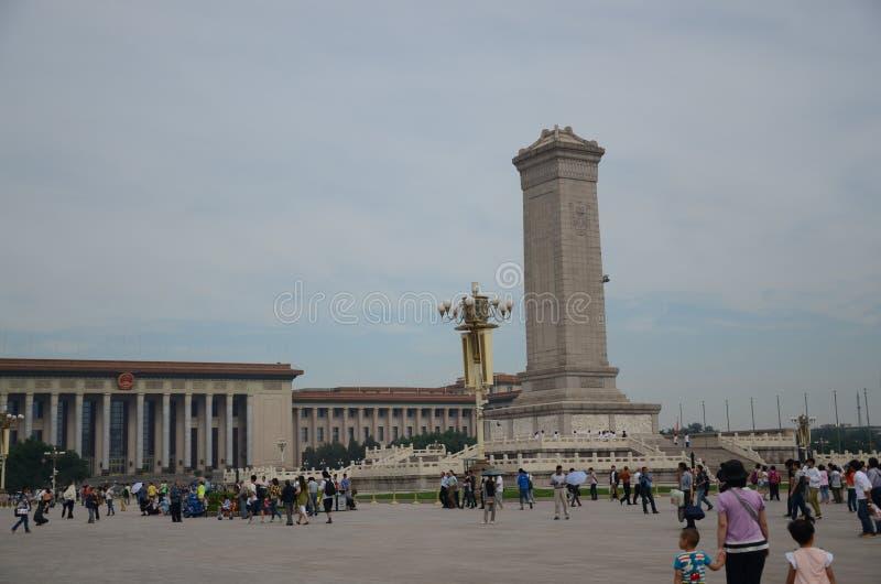 Μνημείο της Κίνας Πεκίνο στους ήρωες των ανθρώπων στοκ εικόνες με δικαίωμα ελεύθερης χρήσης