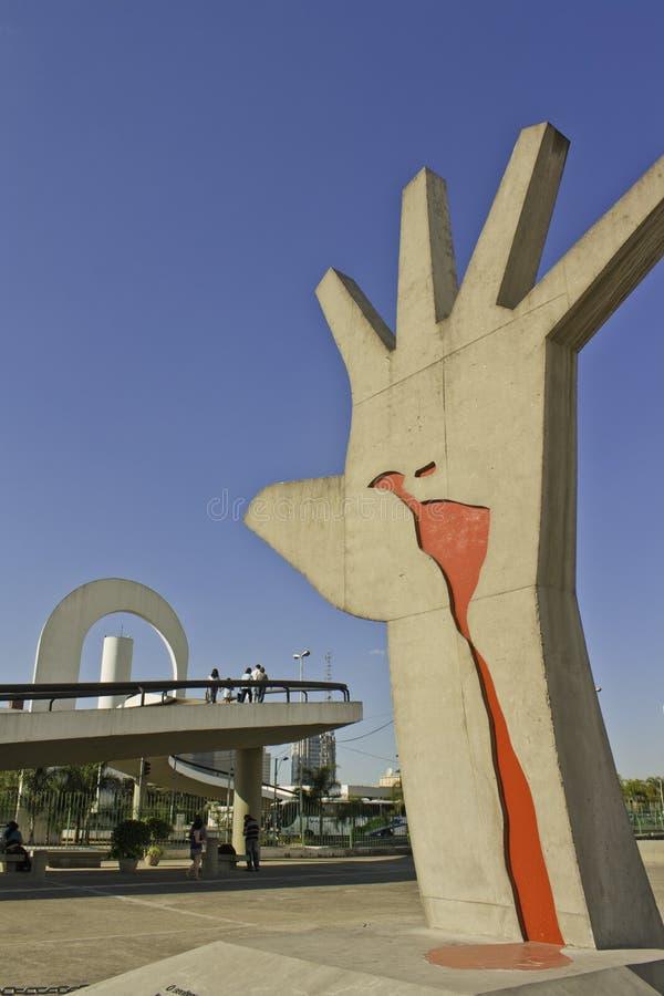 Μνημείο της Λατινικής Αμερικής - Mão στοκ φωτογραφία με δικαίωμα ελεύθερης χρήσης