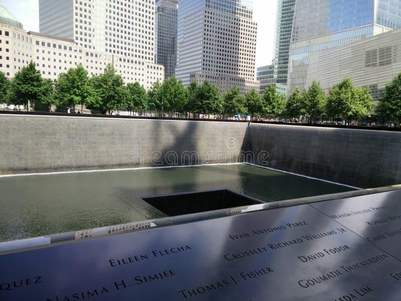Μνημείο 11/09/2001 της Νέας Υόρκης στοκ φωτογραφία