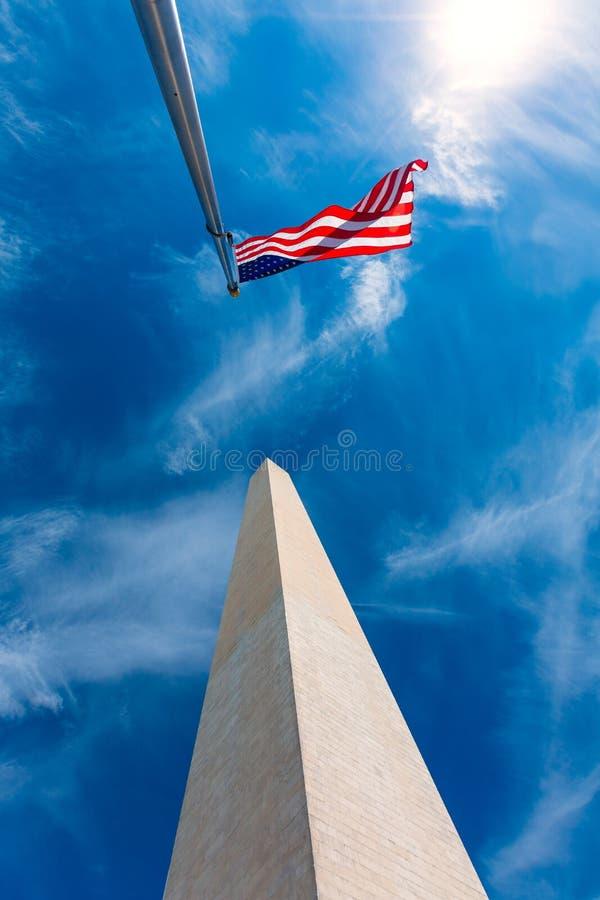 Μνημείο της Ουάσιγκτον στο συνεχές ρεύμα Περιοχής της Κολούμπια στοκ εικόνες με δικαίωμα ελεύθερης χρήσης