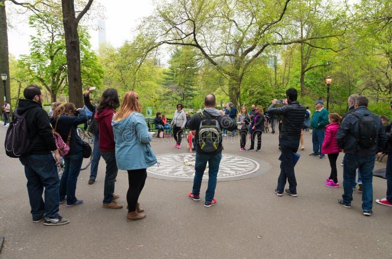 Μνημείο τομέων φραουλών στο κεντρικό πάρκο στοκ εικόνες με δικαίωμα ελεύθερης χρήσης