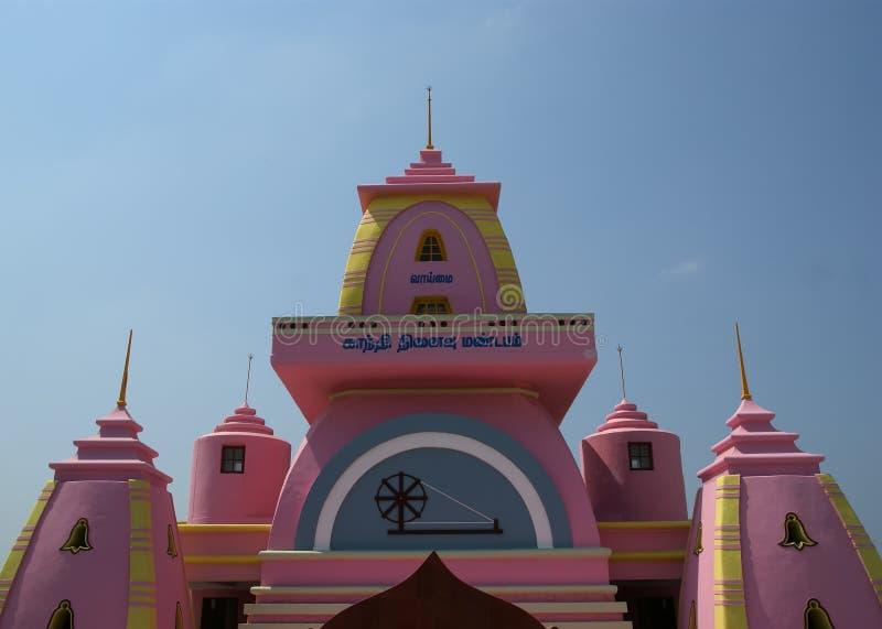 Μνημείο του Γκάντι, Kanyakumari, Tamilnadu, Ινδία στοκ εικόνα