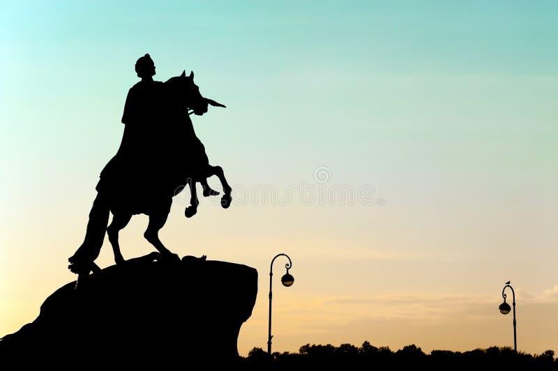 Μνημείο του Μέγας Πέτρου, Αγία Πετρούπολη, Ρωσία στοκ εικόνες