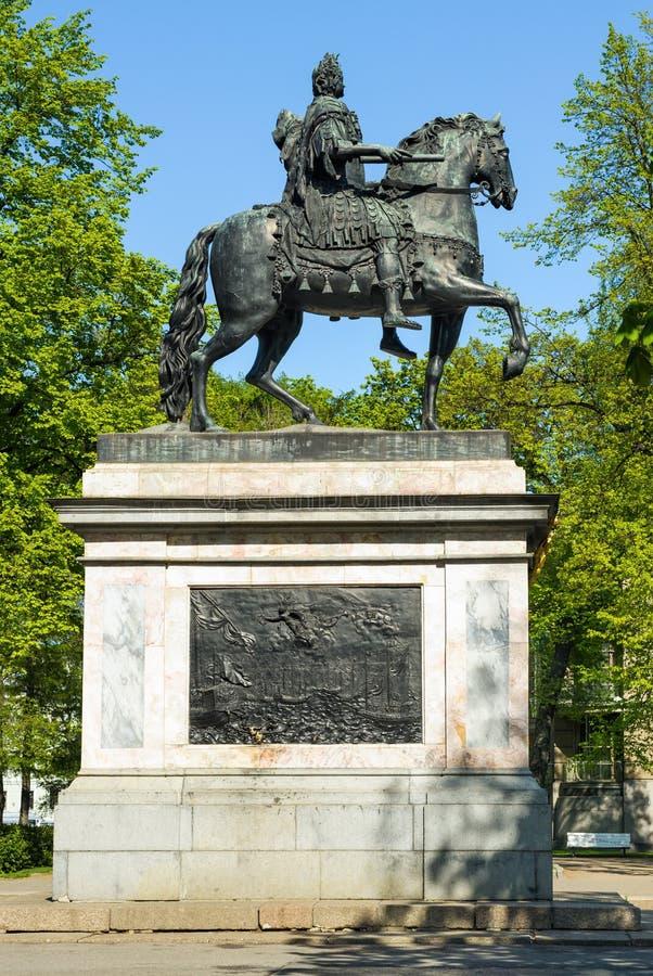 Μνημείο του Μέγας Πέτρου, Αγία Πετρούπολη, Ρωσία στοκ φωτογραφίες με δικαίωμα ελεύθερης χρήσης