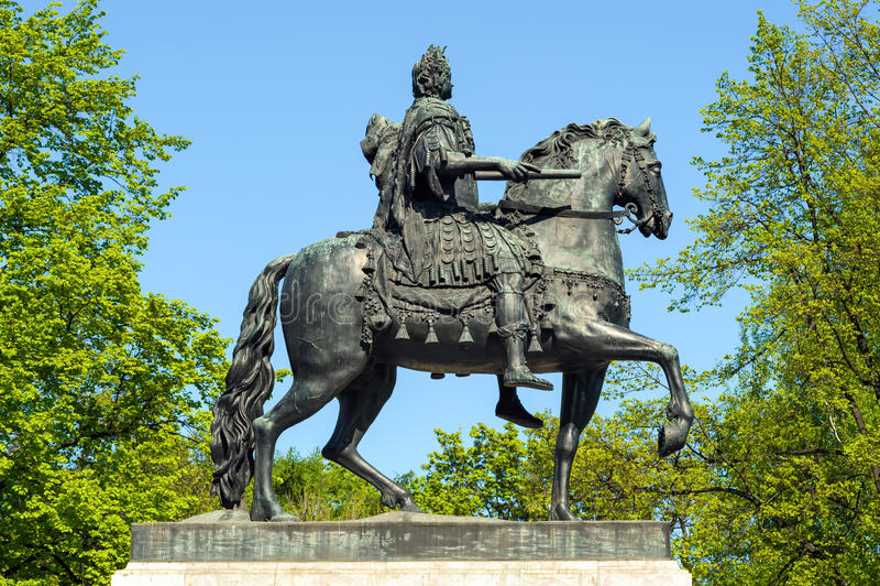 Μνημείο του Μέγας Πέτρου, Αγία Πετρούπολη, Ρωσία στοκ φωτογραφία με δικαίωμα ελεύθερης χρήσης