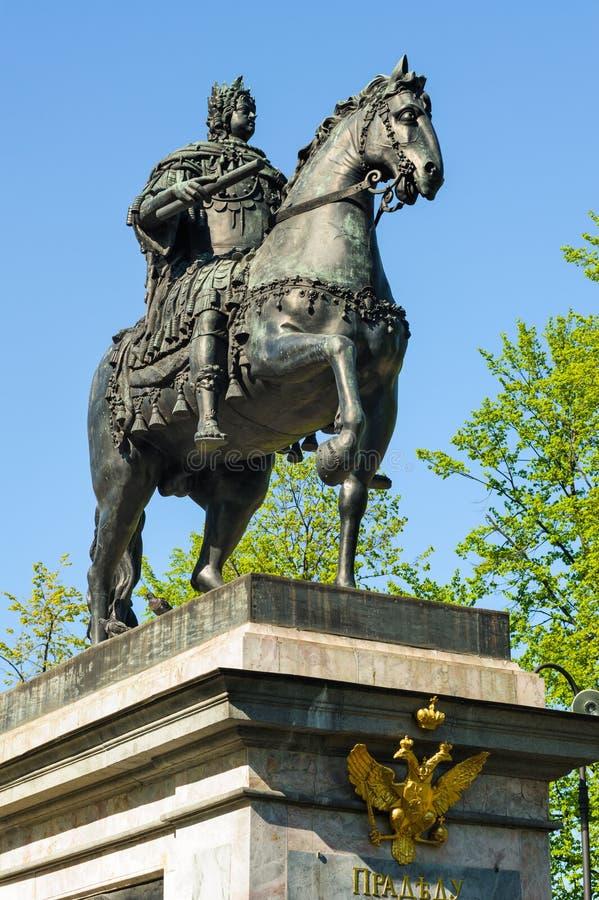 Μνημείο του Μέγας Πέτρου, Αγία Πετρούπολη, Ρωσία στοκ εικόνες με δικαίωμα ελεύθερης χρήσης