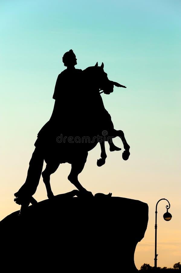 Μνημείο του Μέγας Πέτρου (ιππέας χαλκού), Αγία Πετρούπολη, Ρωσία στοκ εικόνα
