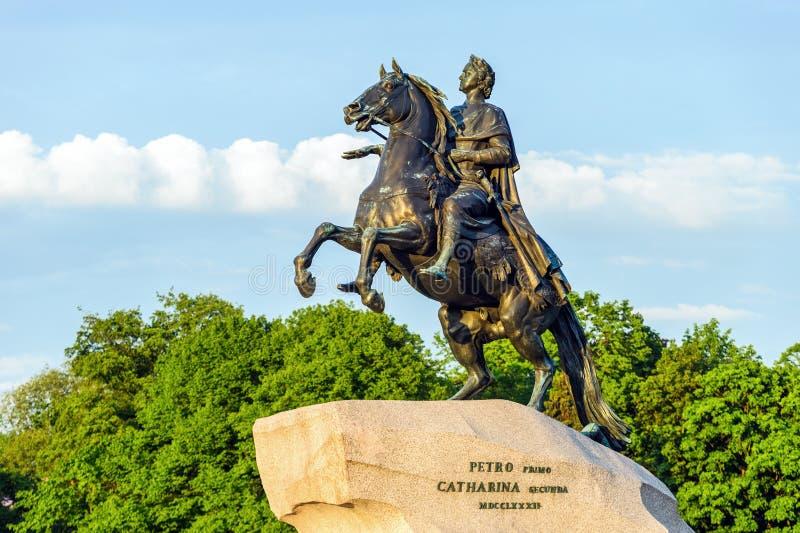 Μνημείο του Μέγας Πέτρου (ιππέας χαλκού) στοκ φωτογραφία
