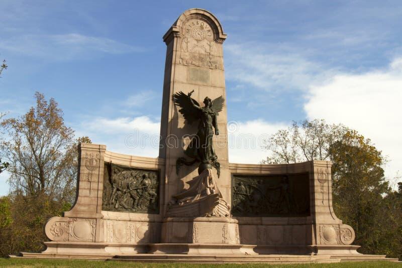 Μνημείο του Μισσούρι στο στρατιωτικό πάρκο Vicksburg στοκ εικόνες με δικαίωμα ελεύθερης χρήσης