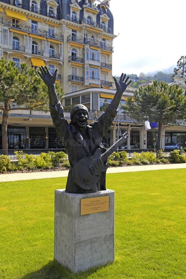 Μνημείο του Carlos Santana στο Μοντρέ, Ελβετία στοκ φωτογραφία με δικαίωμα ελεύθερης χρήσης
