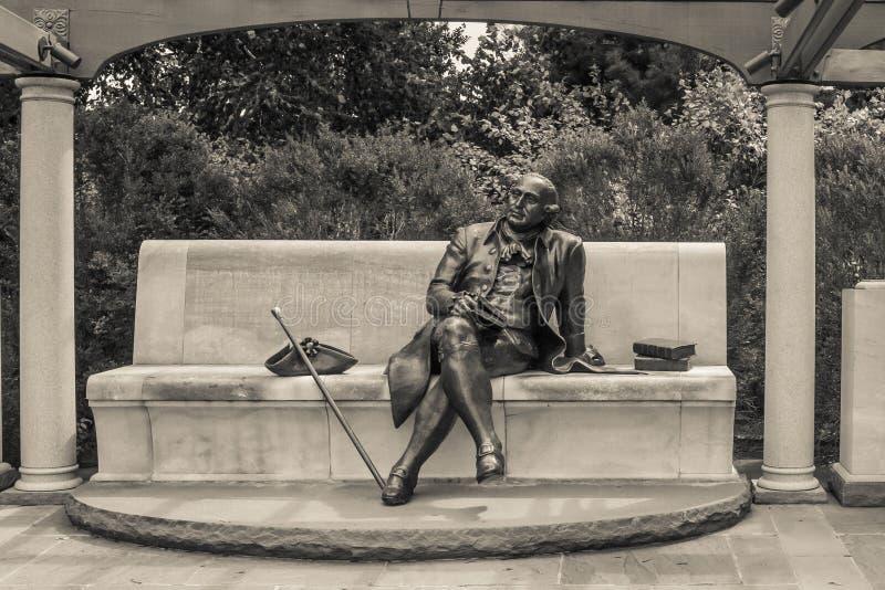 Μνημείο του George Mason στη σέπια στοκ εικόνα