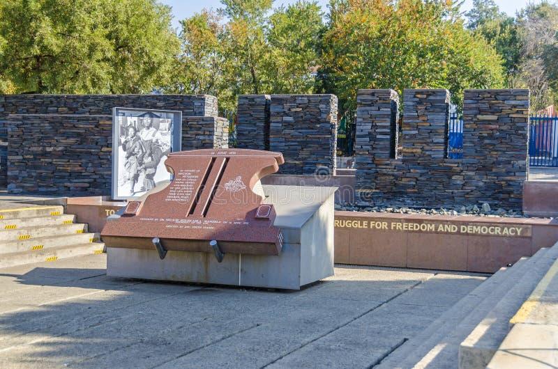 Μνημείο του Hector Pieterson μέσα σε Soweto, Νότια Αφρική στοκ εικόνες με δικαίωμα ελεύθερης χρήσης