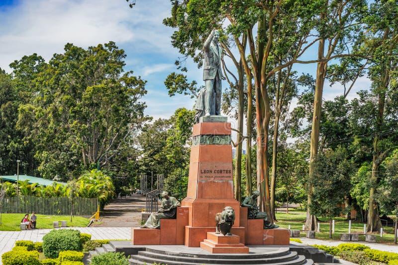 Μνημείο του Leon Cortes, Λα Sabana, San Jose, Κόστα Ρίκα Parque στοκ φωτογραφία