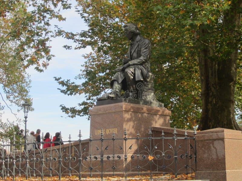 Μνημείο του Ludwig Richter στη Δρέσδη, Γερμανία στοκ φωτογραφίες