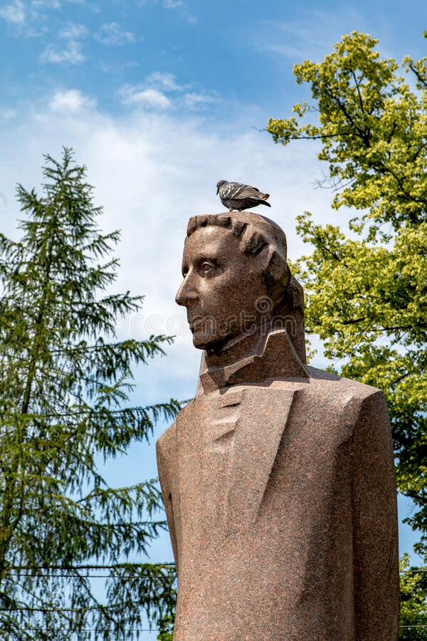 Μνημείο του Martin Ludwig Jedemin Rhesa Martynas Liudvikas Gediminas Reza στοκ φωτογραφίες