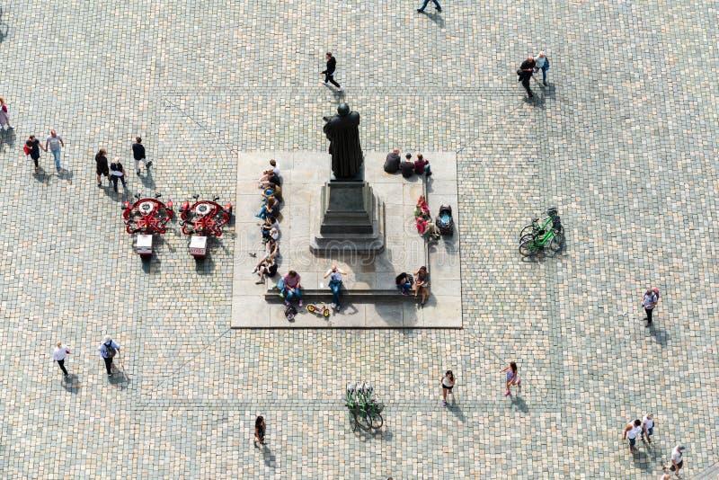 Μνημείο του Martin Luther σε Neumarkt στη Δρέσδη στοκ φωτογραφίες