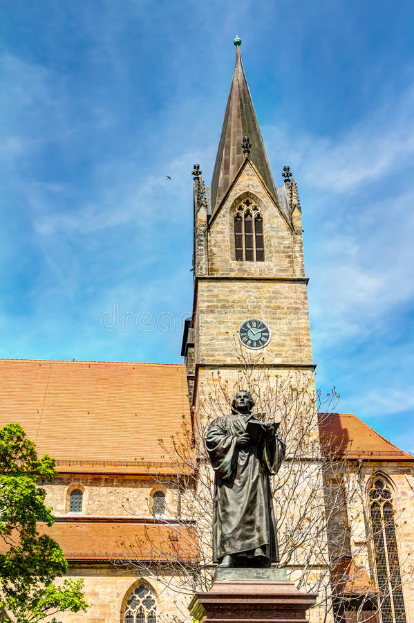 Μνημείο του Martin Luther στην Ερφούρτη στοκ εικόνες με δικαίωμα ελεύθερης χρήσης