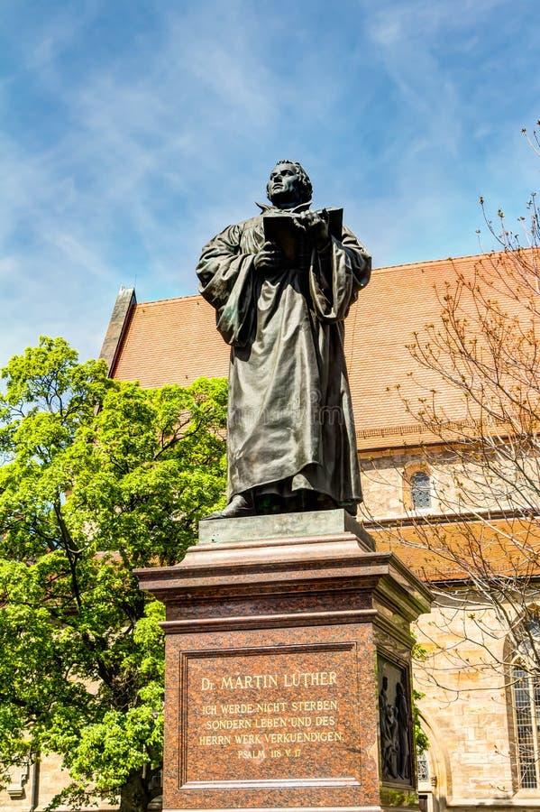 Μνημείο του Martin Luther στην Ερφούρτη στοκ εικόνα με δικαίωμα ελεύθερης χρήσης