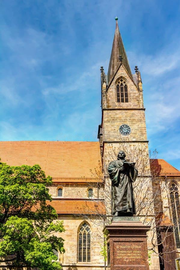 Μνημείο του Martin Luther στην Ερφούρτη στοκ φωτογραφία με δικαίωμα ελεύθερης χρήσης