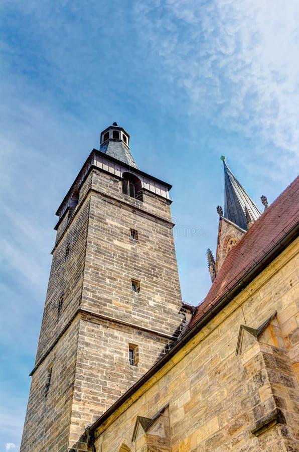 Μνημείο του Martin Luther στην Ερφούρτη στοκ φωτογραφία